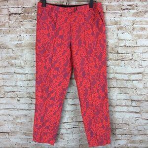 Topshop Florescent Lace Print Floral Trousers 6